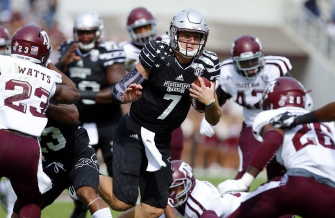 Texas A&M's stay at No. 4 in the CFP rankings is short as Aggies lose to Miss. St.