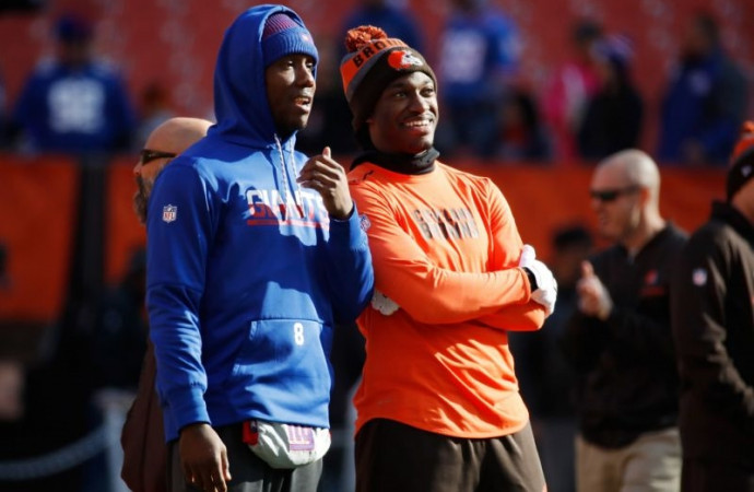 RG3's girlfriend said they both had money stolen out of car at Browns game