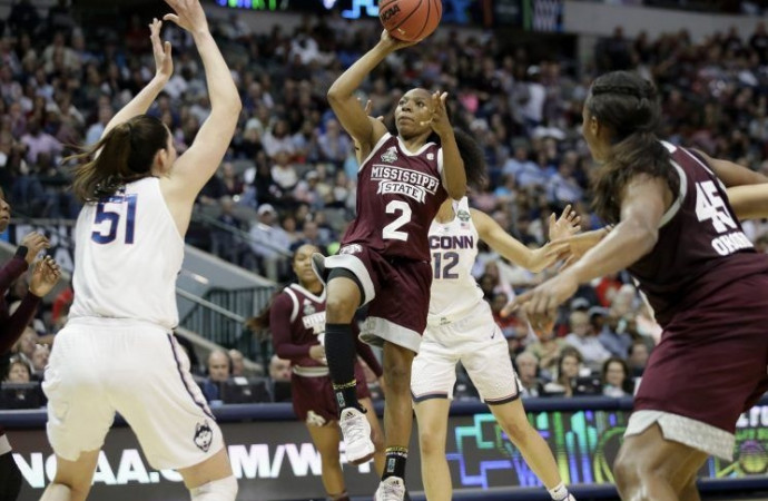 Mississippi State shocks UConn, ending Huskies' record 111-game win streak as Bulldogs advance to title game