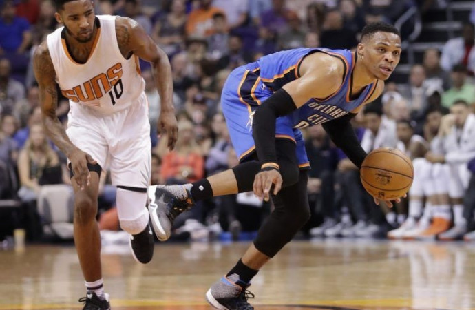 Russell Westbrook clinches triple-double average with historic assist