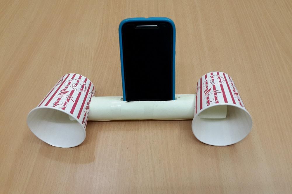 Make Smartphone Speakers Using Plastic Cups