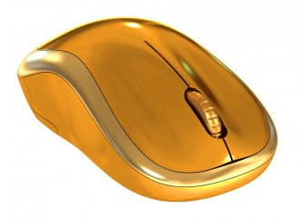 Most Expensive Computer Mouse Made of White Gold and Diamonds