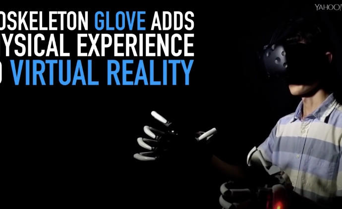 Exoskeleton glove adds physical experience to virtual reality