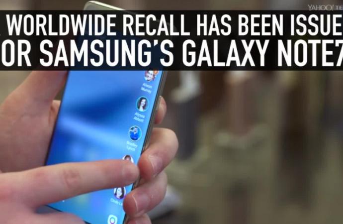 Samsung's Galaxy Note7 recalled
