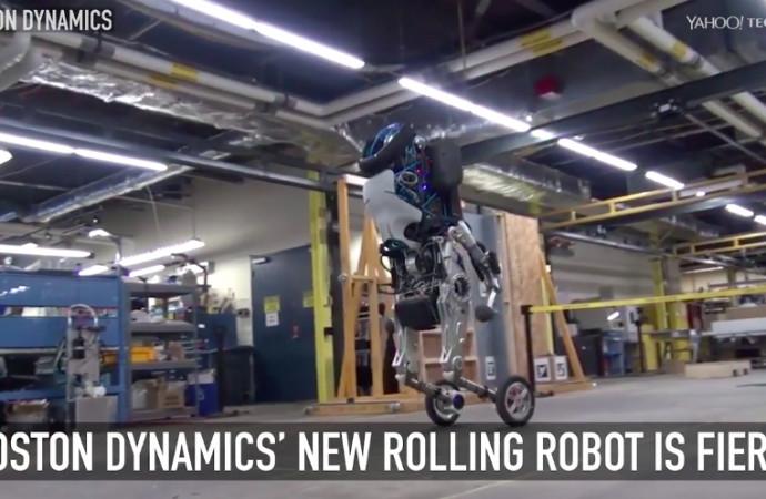 Boston Dynamics\' new rolling robot is fierce
