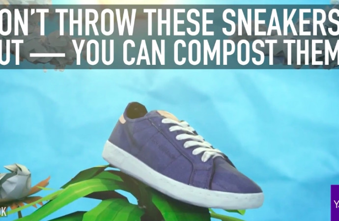 Don't throw these sneakers out — you can compost them