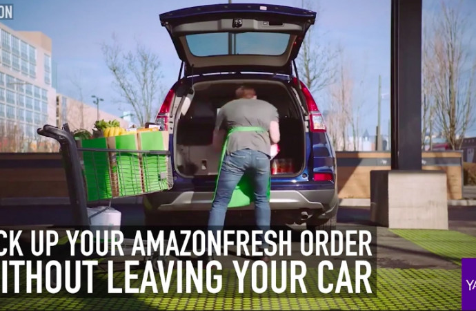 Pick up your AmazonFresh order without leaving your car