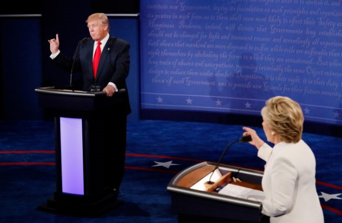 Clinton camp: Trump 'perhaps' coping with potential loss to 'first woman president'