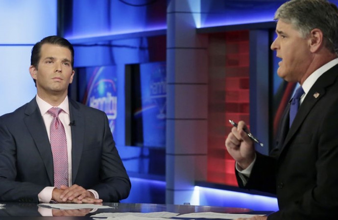 Donald Trump Jr. finds safe harbor with Sean Hannity
