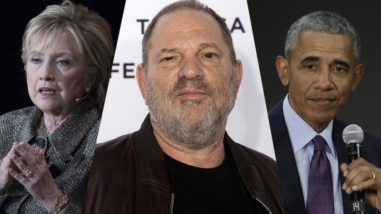 Clinton, Obama break silence on Weinstein allegations